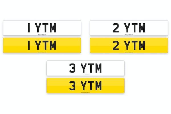 '1 YTM', '2 YTM', '3 YTM' - NUMBER PLATES