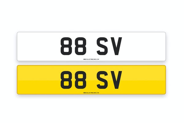 '88 SV' - NUMBER PLATE