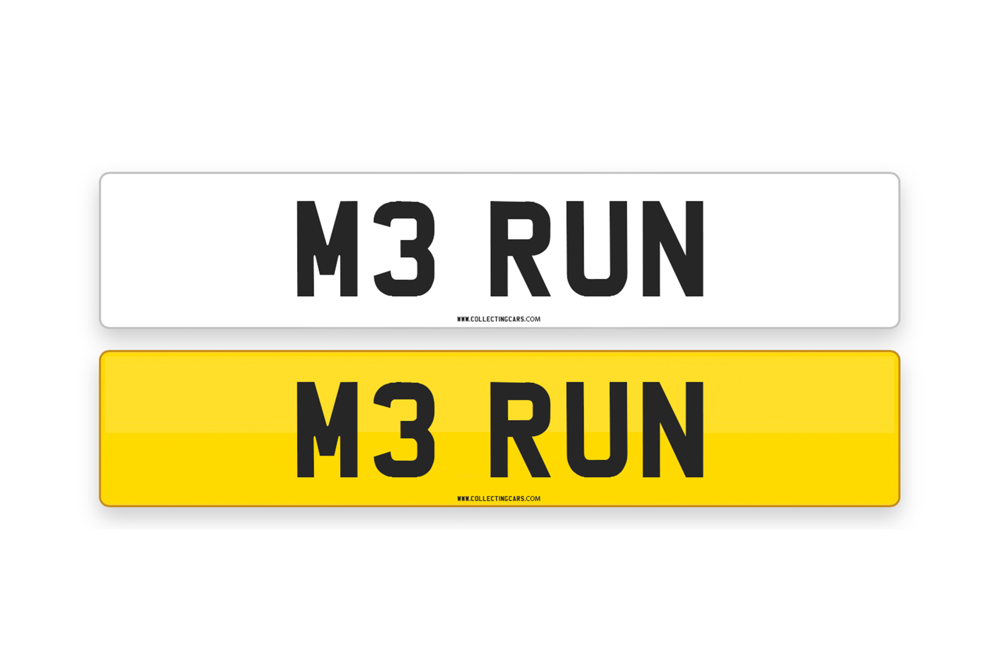 'M3 RUN' - NUMBER PLATE