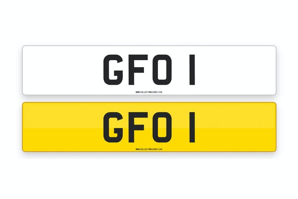 'GFO 1' - NUMBER PLATE
