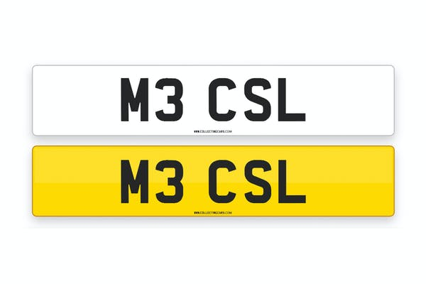 'M3 CSL' - NUMBER PLATE