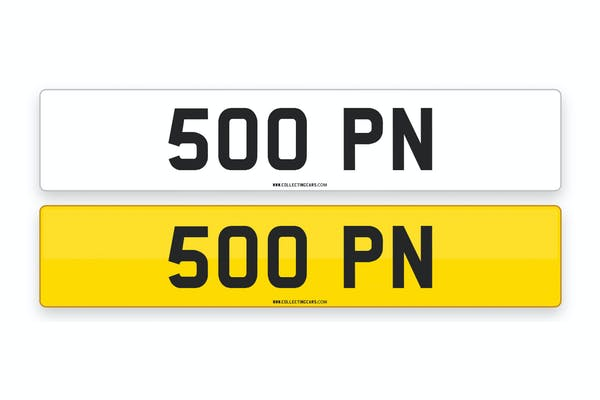 '500 PN' - NUMBER PLATE