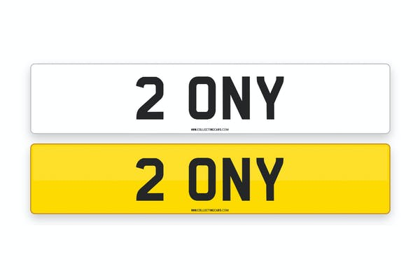 '2 ONY' - NUMBER PLATE