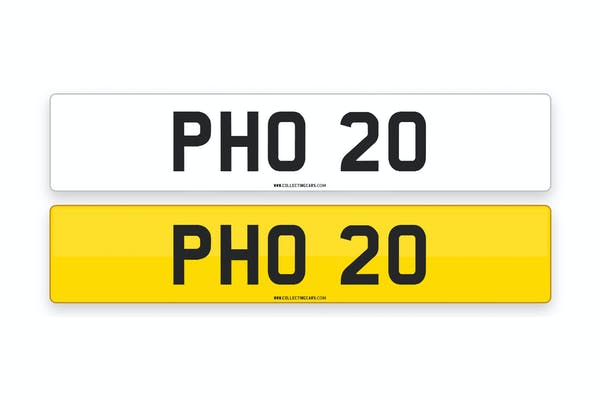 'PHO 20' - NUMBER PLATE