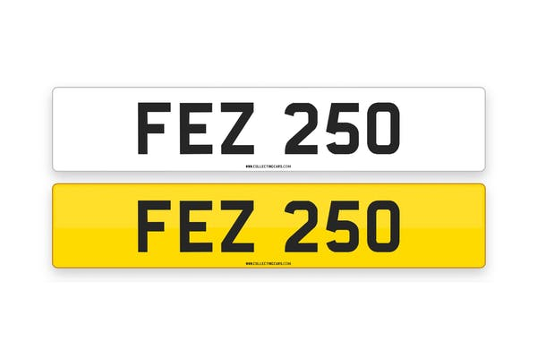 'FEZ 250' - NUMBER PLATE