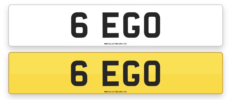 '6 EGO' - NUMBER PLATE