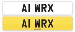 'A1 WRX' - NUMBER PLATE