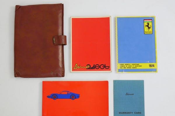 FERRARI DINO 246 GT BOOKS AND POUCH SET