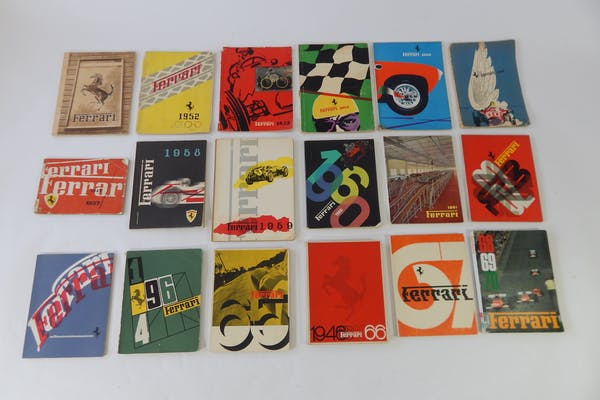 COMPLETE FERRARI YEARBOOK SET 1951-1970