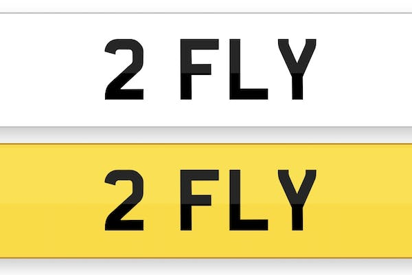 NUMBER PLATE - '2 FLY'
