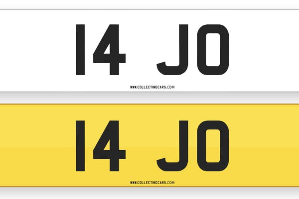 NUMBER PLATE - '14 JO'